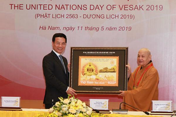 """Phát hành đặc biệt bộ tem """"Chào mừng Đại lễ Phật đản Liên Hợp Quốc-Vesak 2019"""""""