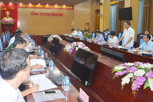 Đoàn công tác Ban chỉ đạo Trung ương về phòng, chống thiên tai làm việc tại tỉnh Tuyên Quang