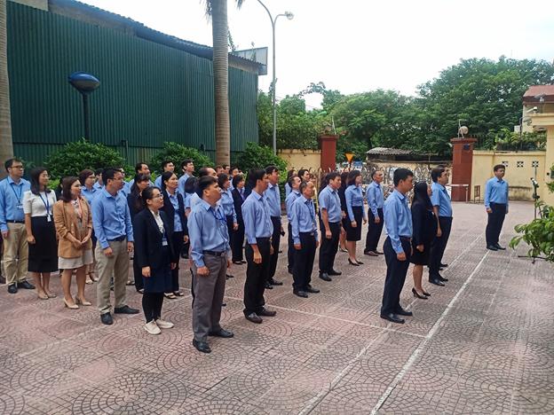 Cục BĐTW thực hiện nghi thức Chào cờ và hát Quốc ca tháng 11/2019