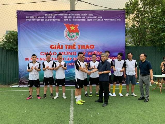 Đội bóng Cục BĐTW vô địch giải Cúp Tứ hùng