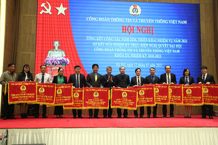 Công đoàn Thông tin và Truyền thông Việt Nam tổng kết công tác năm 2020 và triển khai nhiệm vụ năm 2021