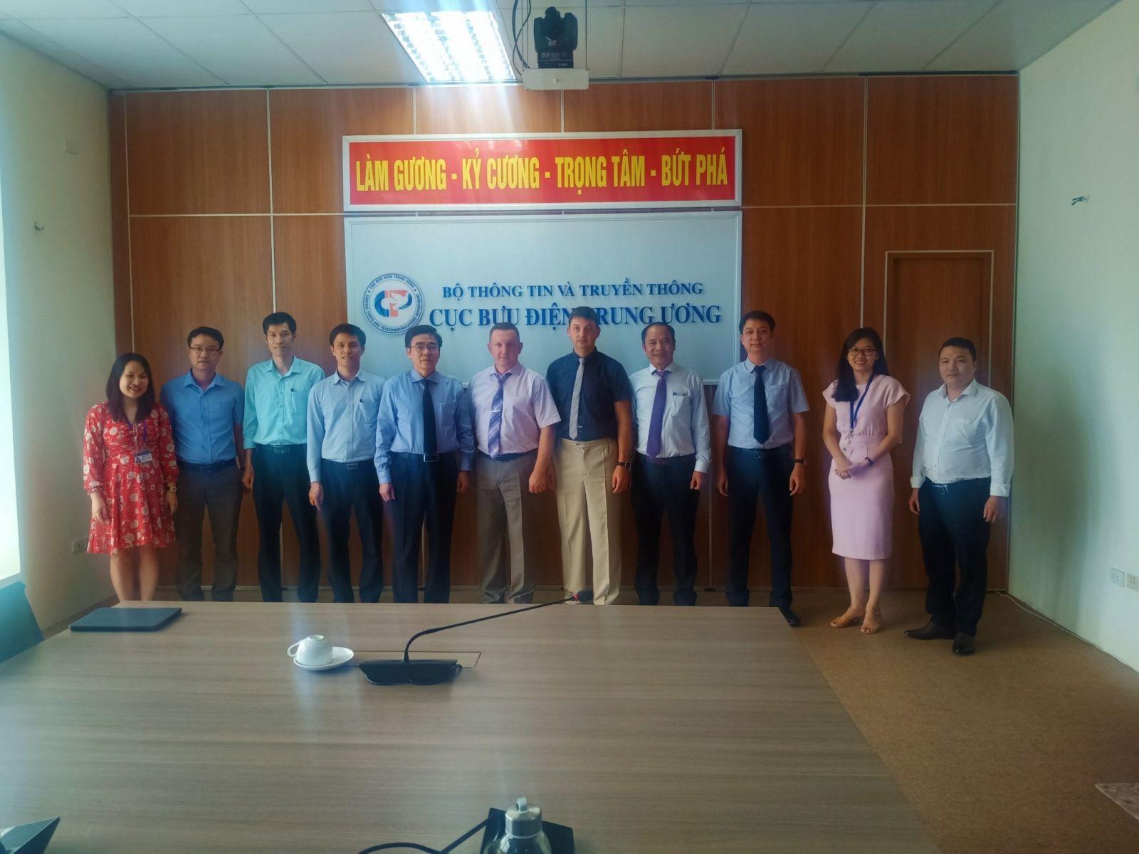 Cục Bưu điện Trung ương tổ chức tiếp đón đoàn chuyên gia của Cơ quan bảo vệ Liên bang Nga sang làm việc tại Cục BĐTW