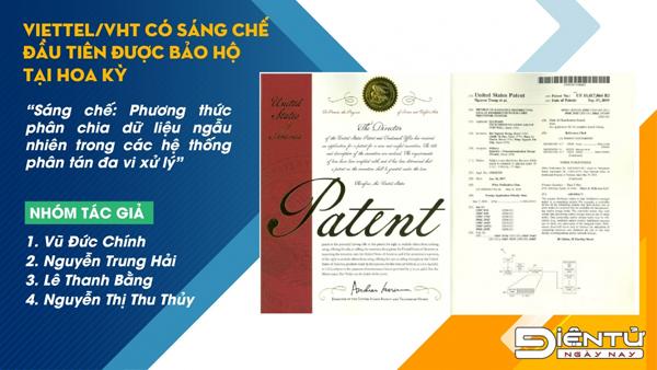 Sáng chế của Viettel lần đầu được Mỹ bảo hộ độc quyền