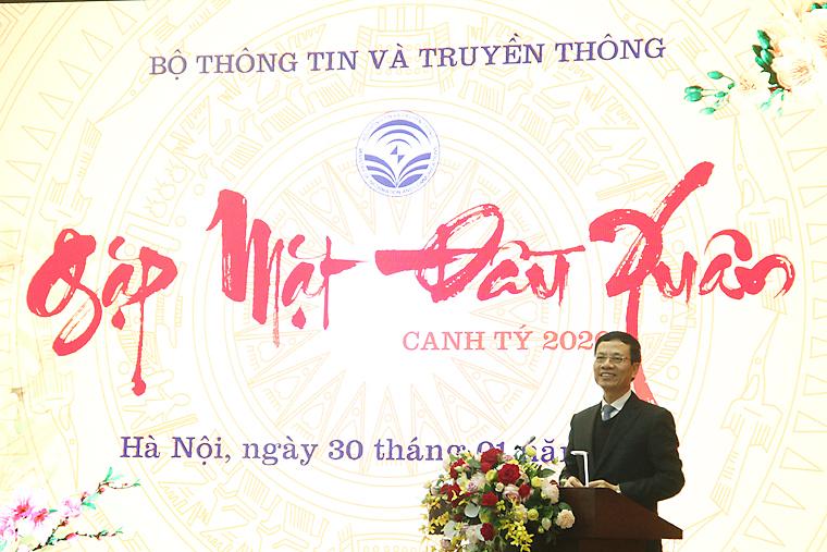 Lãnh đạo Bộ TT&TT gặp mặt cán bộ, công chức, viên chức đầu Xuân Canh Tý 2020