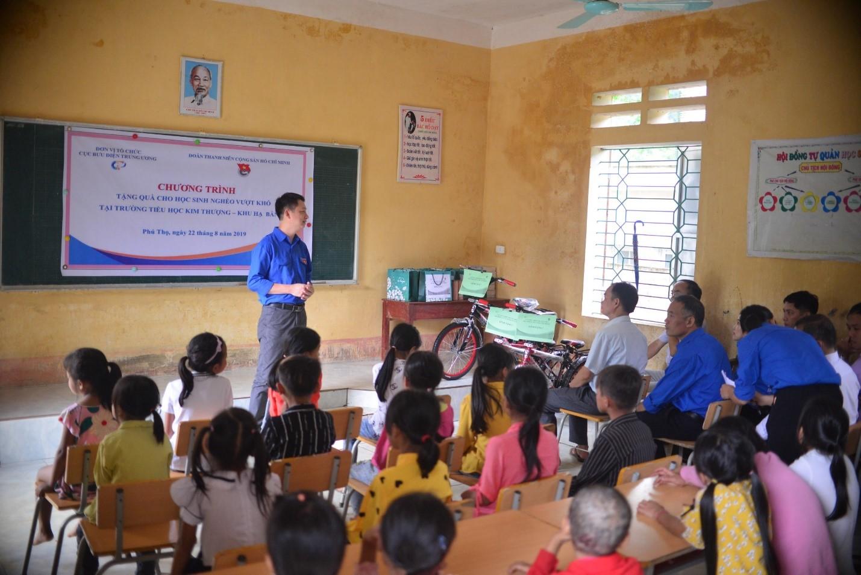 Chương trình từ thiện của Đoàn TNCS Hồ Chí Minh - Cục Bưu điện Trung ương tại xã Kim Thượng, Tân Sơn, Phú Thọ